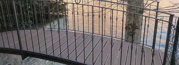 Pontili e camminamenti deck composito prodotti in - Rivestimenti balconi esterni ...